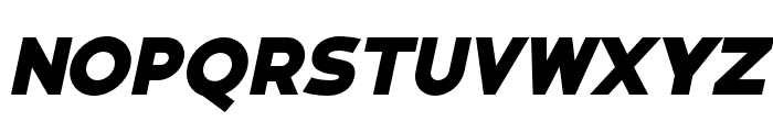 Bianco ExtraBold Italic Font UPPERCASE