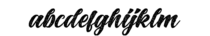 BigBlueRough-Rough Font LOWERCASE