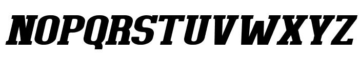 BigboyOT-BlackItalic Font UPPERCASE