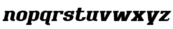 BigboyOT-BlackItalic Font LOWERCASE