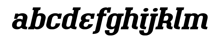 BigboyOT-BoldItalic Font LOWERCASE