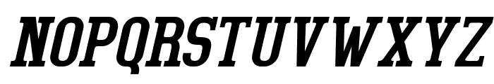 BigboyOT-RegularItalic Font UPPERCASE