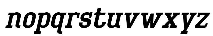 BigboyOT-RegularItalic Font LOWERCASE