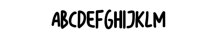 Bigsta Regular Font UPPERCASE