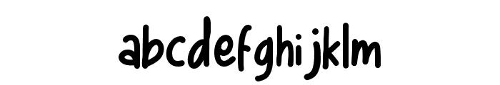Bigsta Regular Font LOWERCASE