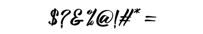 BillyTheGang-Italic Font OTHER CHARS