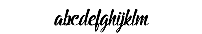 BillyTheGang-Italic Font LOWERCASE
