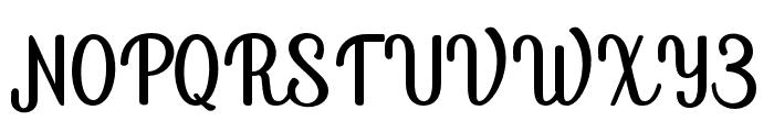 Bird house Regular Font UPPERCASE