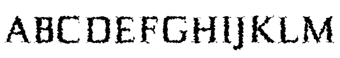 Birtle-Distorted Font UPPERCASE