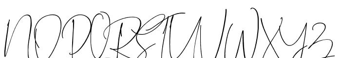 BitlameroScript-Regular Font UPPERCASE