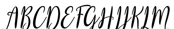 Biyanka Robert Italic Font UPPERCASE