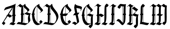 Black Callig Font UPPERCASE