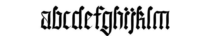Black Callig Font LOWERCASE