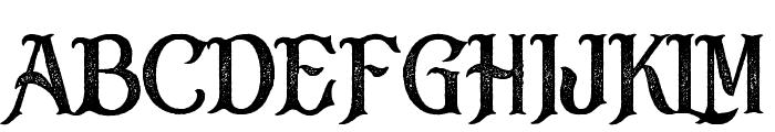 Black Drama Rough Font UPPERCASE