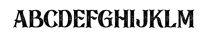 Black Drama Rough Font LOWERCASE