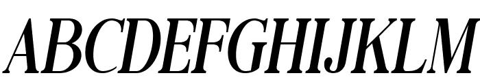 Black Drama Serif Italic Font UPPERCASE