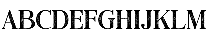 Black Drama Serif Rough Font LOWERCASE