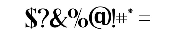 Black Drama Serif Font OTHER CHARS
