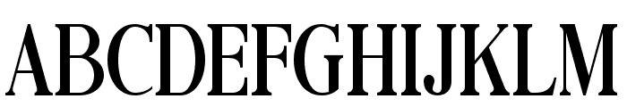 Black Drama Serif Font UPPERCASE