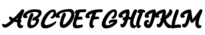 Black Mindo Font UPPERCASE