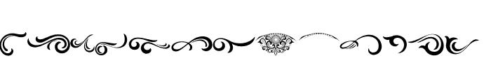 Black Quality Ornaments Regular Font UPPERCASE