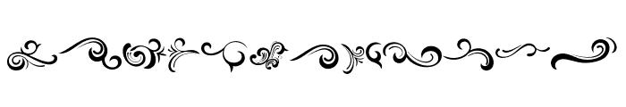 Black Quality Ornaments Regular Font LOWERCASE