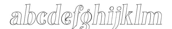 Black Quality Outline Italic Font LOWERCASE