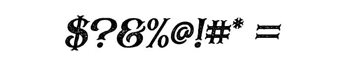 BlackDramaRough-Italic Font OTHER CHARS