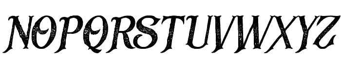 BlackDramaRough-Italic Font UPPERCASE