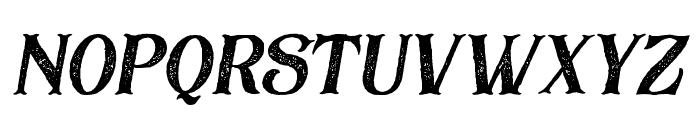 BlackDramaRough-Italic Font LOWERCASE