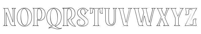 BlackQualityOutline Font UPPERCASE