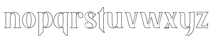 BlackQualityOutline Font LOWERCASE