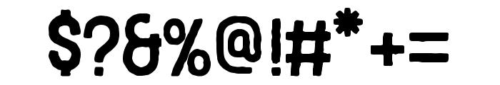 Blackcode Sans Rough Font OTHER CHARS