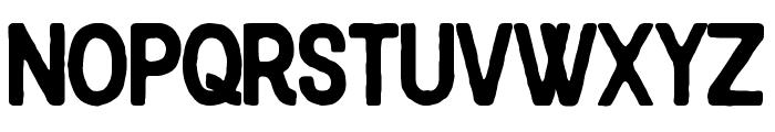 Blackcode Sans Rough Font UPPERCASE