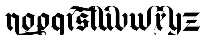 Blackey Alt Font LOWERCASE