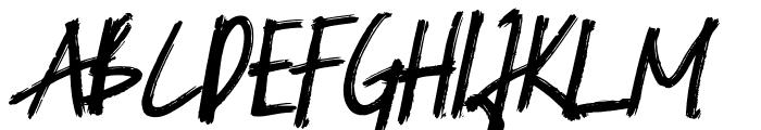 Blacknight Italic Font UPPERCASE