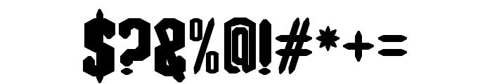 Blacknote Regular Font OTHER CHARS