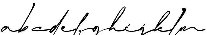 Blackstand Font LOWERCASE