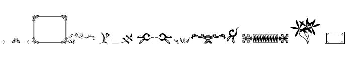 Blackstore  Extras Ornament+ Swosh Font UPPERCASE