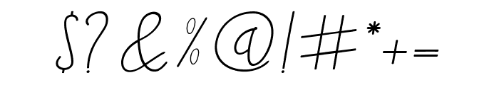 Blackstore Signature Font OTHER CHARS