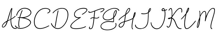 Blackstore Signature Font UPPERCASE