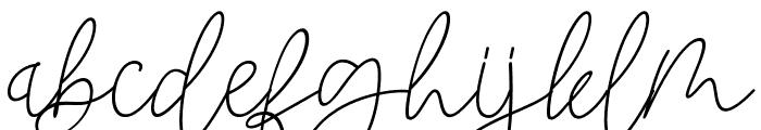 Blackstore Signature Font LOWERCASE