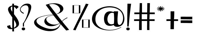 Blackstore Three Version  Font OTHER CHARS
