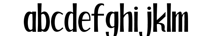 Blackstore Three Version  Font LOWERCASE