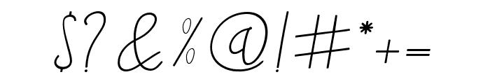 BlackstoreSignature Font OTHER CHARS
