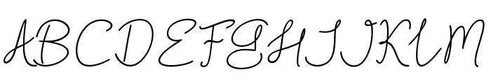 BlackstoreSignature Font UPPERCASE