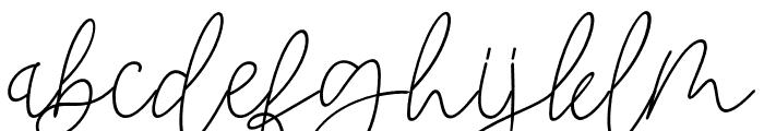 BlackstoreSignature Font LOWERCASE