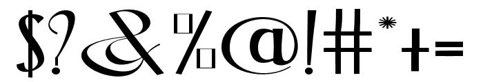 BlackstoreThreeVersion Font OTHER CHARS