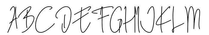 Blista Rade Font UPPERCASE