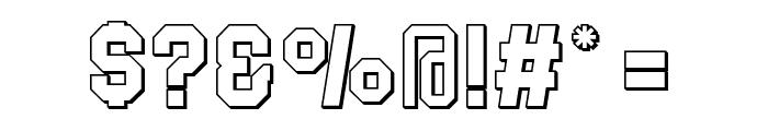 Blockletter 3D Font OTHER CHARS